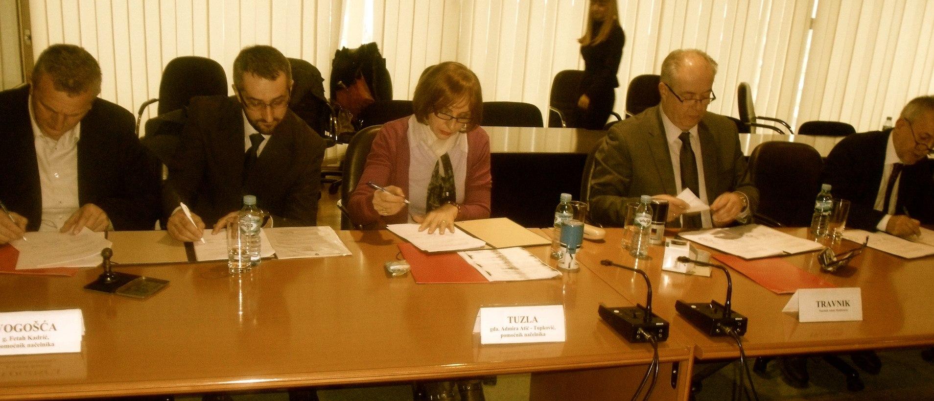 Potpisivanje sporazuma u Sarajevu