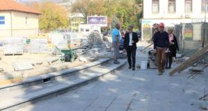 (foto) U toku rekonstrukcija dijela ulice Šetalište Slana banja i Trga slobode