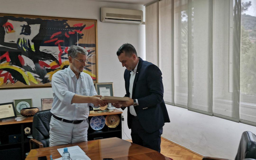 Gradonačelnik Tuzle upriličio prijem za Ademira Zurapovića, najboljeg bosanskohercegovačkog košarkaškog sudiju, učesnika Olimpijskih igara u Tokiju